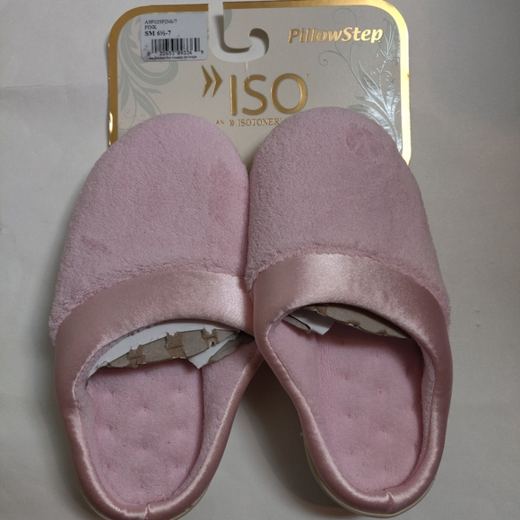 NWT Isotoner PillowStep Pink Slippers Small 6.5-7